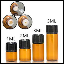 Mini Size Essential Oil Szklane butelki Normal Cap Do serum / Perfumy 1ml 2ml 3ml 5ml
